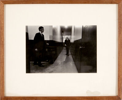 Duane Michals, 'Man in Hall', 1975