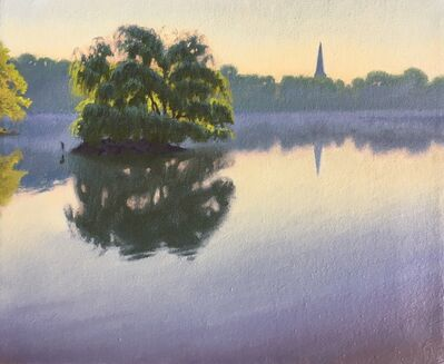 Ed Stitt, 'Willow on Jamaica Pond, Hazy Morning', 2019