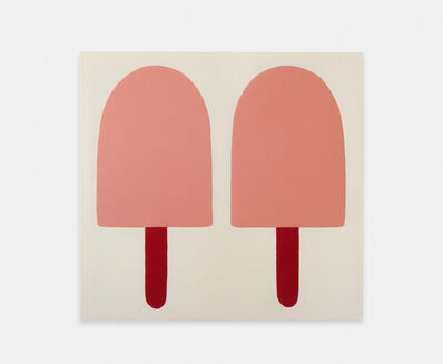 Adelaide Cioni, 'Go easy on me, two pink ones with red sticks', 2020