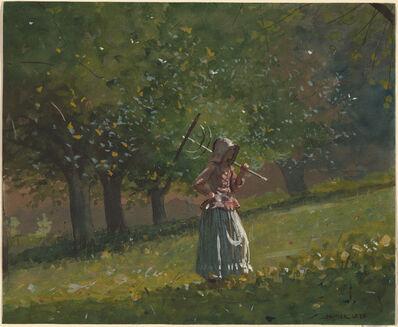 Winslow Homer, 'Girl with Hay Rake', 1878