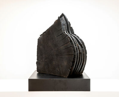 David Nash, 'Black and Crack Sheaves', 1999