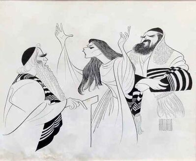 Al Hirschfeld, 'The Dybbuk', 1960