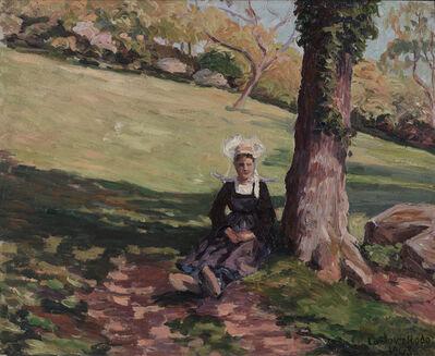 Ludovic-Rodo Pissarro, 'Bretonne sous un Arbre', 1903