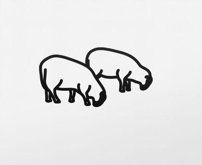 Julian Opie, 'Sheep 3 (Steelcut)', 2015