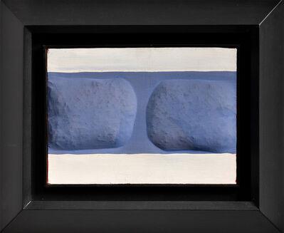 Agostino Bonalumi, 'Bianco e Azzurro', 1962