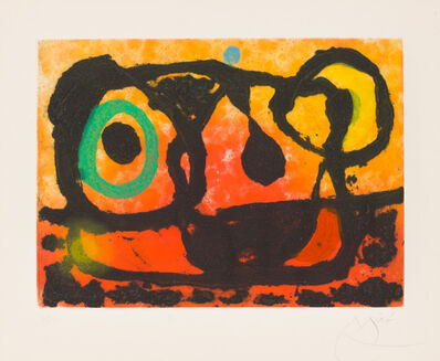 Joan Miró, 'TÊTE AU SOLEIL COUCHANT (Head of the Setting Sun)', 1967