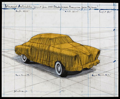 Christo, 'Wrapped Automobile (Project for 1950 Studebaker Champion, Series 9 G Coupe)', 2015