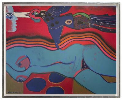 Corneille, 'Dans le ciel du désir L'oiseau passe.', 1980