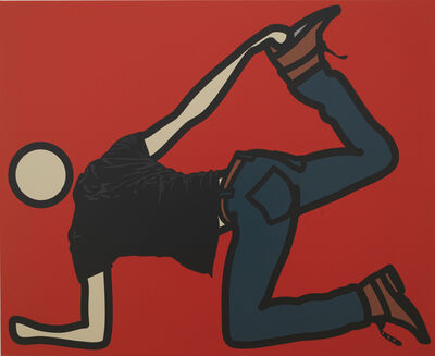 Julian Opie, 'Ed, Foot Hold', 2008