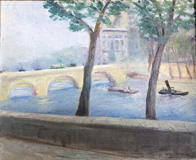 alexandre magaram, 'View of the Louvre from Quai Voltaire, Paris 1930', 1930