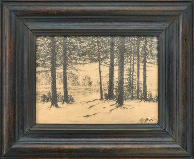 Rookwood Pottery, 'Winter scenic Vellum plaque (uncrazed)', ca. 1915