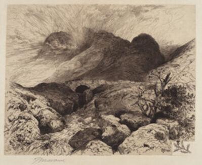Thomas Moran, 'Bridge in the Pass of Glencoe, Scotland', 1882