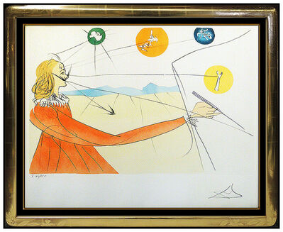 Salvador Dalí, 'Salvador Dali Dalian Prophecy Hand Signed Color Etching Original Surreal Art', 1975