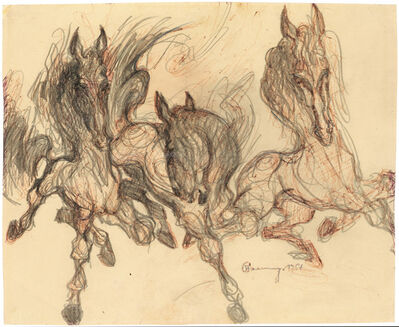 Alfred Czerny, 'Drei Pferde (Three Horses) ', 1967