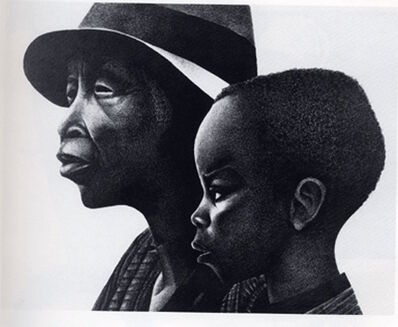 Elizabeth Catlett, 'These Two Generations', 1987