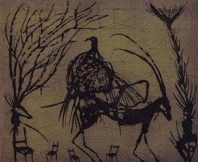 Guillermo Olguin, 'Cabra con pájaro', 2018
