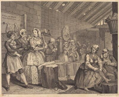 William Hogarth, 'A Harlot's Progress: pl.4', 1732