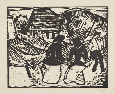 Karl Schmidt-Rottluff, 'Near the Fishing Nets', 1914
