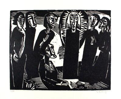 Karl Schmidt-Rottluff, 'Christus Unter Den Frauen / Christ Among The Women', 1919