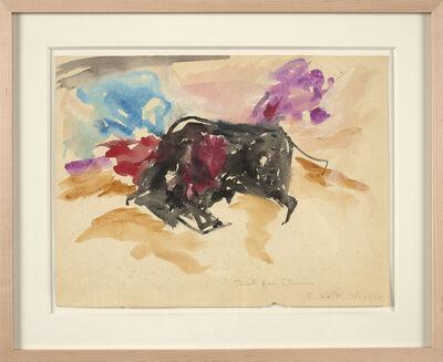 Elaine de Kooning, 'Untitled (Bull)', 1970