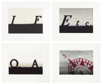 Ed Ruscha, 'Etc.; If; South; Question & Answer', 1991
