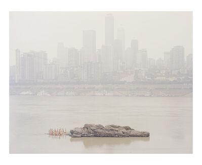 Zhang Kechun, 'People Standing on the River Stone II 站在江心石头上的人II', 2014