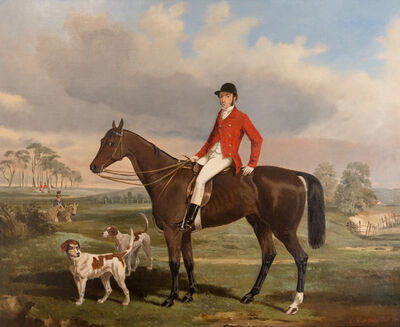 Alfred F. de Prades, 'William James Fenn-Williams with his hounds', 1851