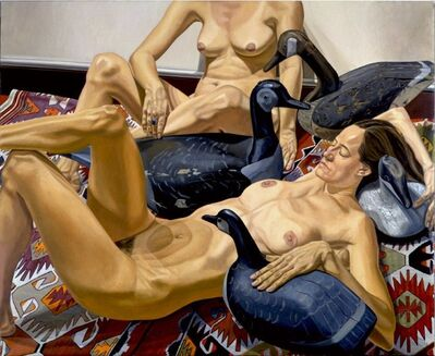 Philip Pearlstein, 'Two Nudes with Four Goose Decoys', 1994