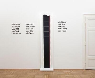 Heinrich Dunst, 'Wandarbeit', 2013