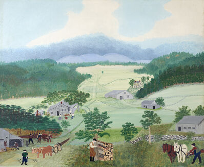 Grandma Moses, 'First Wagon on Cambridge Pike', 1944