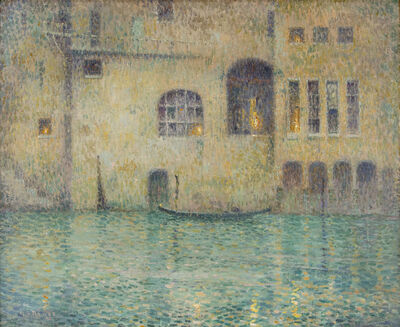 George L.  Noyes, 'Venetian Twilight', Circa 1910
