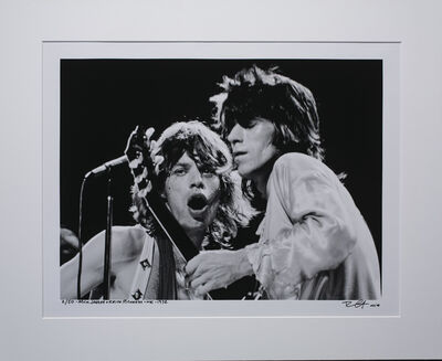 Richard E. Aaron, 'Mick and Keith 1972 at the Microphone on Hahnemuehle paper', 1972
