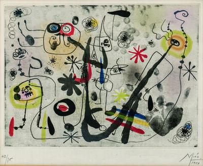 Joan Miró, 'La main', 1953