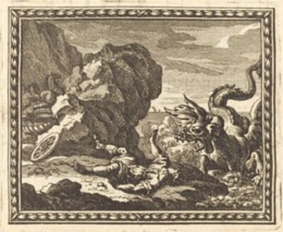 Jean Lepautre, 'Hippolytus and the Sea Monster', published 1676