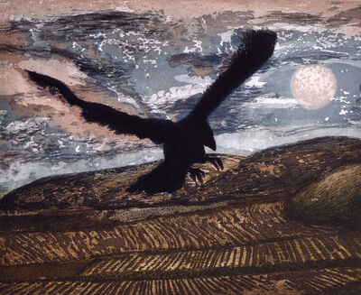 David Inshaw, 'Marlborough Downs Crow', 1989-1992