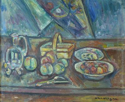 Pinchus Kremegne, 'Still Life with Basket, Jug and Fruits', 1948