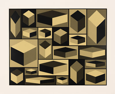 Sol LeWitt, 'Distorted Cubes (A)', 2001