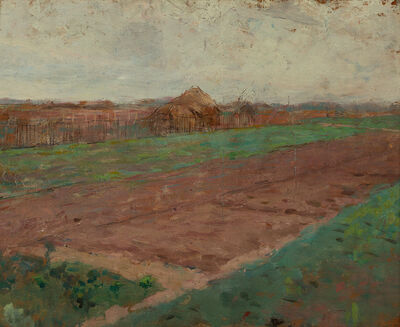 Theodore Robinson, 'Planting Fields (on verso: Riverbed)'