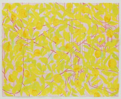 Ghada Amer & Reza Farkhondeh, 'Sleeping with Orange Tree Branches #2', 2008