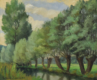 Paul-Emile Pissarro, 'Bord de Rivière, Lyons-la-Forêt', 1930