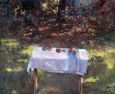 Michael Doyle, 'Apples on French Linen', 2018
