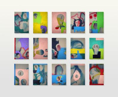 Edgar Orlaineta, 'Dada Heads I - XV', 2016