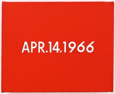 "On Kawara, 'APR.14,1966 ""President Johnson in Mexico City""', 1966"