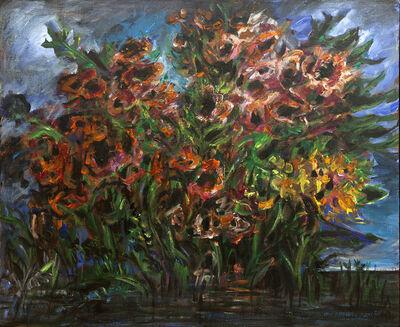 Yosl Bergner, 'Red Flowers', ca. 1980