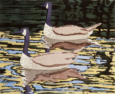Neil G. Welliver, 'Canada Geese', 1978