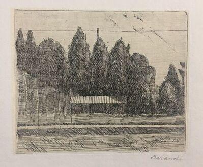 Giorgio Morandi, 'Campo di Tennis ai Giardini Margherita a Bologna', 1921