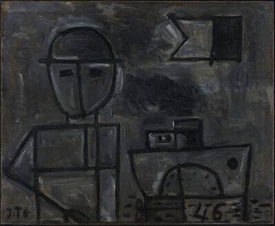 Joaquín Torres-García, 'Grafismo del Hombre y Barco', 1946