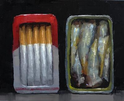 Tom Giesler, 'Smoked #2: smoked sardines and cigarettes', 2019