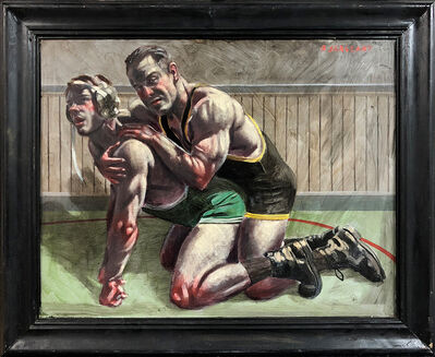 Mark Beard, '[Bruce Sargeant (1898-1938)] Competitive Wrestling Match', n.d.