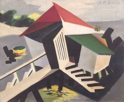 Dusti Bongé, 'Biloxi Scene with Boat and Camp', 1943